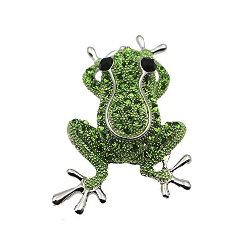 Teniu Animal Frog Brooch Personalized Silver Brooches for Women Girls Mens Fashion Brooch Pins