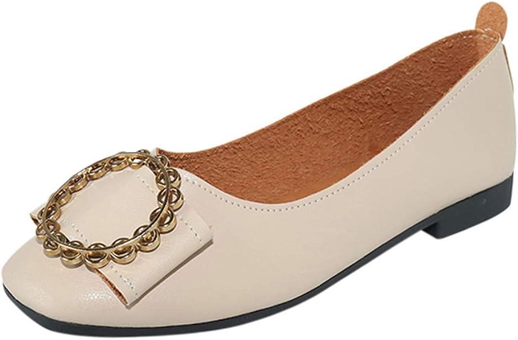 refulgence Women s Round Toe Slip On Low Heel Flats Single Shoes(US ... 7ab586e0d5b