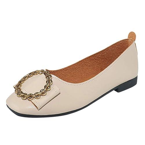 Zapatos Mocasines Cómodos para Mujer realizados EN Piel Genuina, Planta Acolchada para Total Confort y