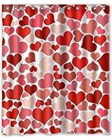 60w X 72h Valentines Day Gift Pattern Bathroom Shower Curtain