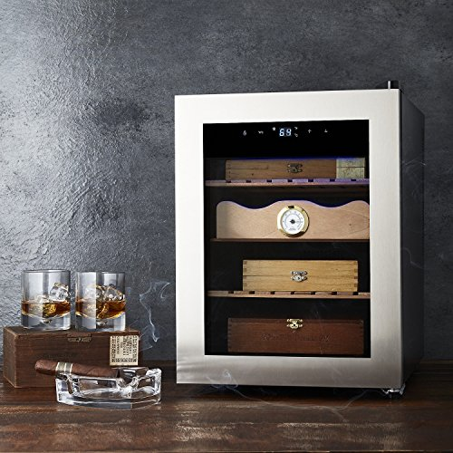 Cigar Enthusiast Humidor - Maintains ideal temperature and humidity for cigars - Spanish Cedar wood drawer and shelves by Wine Enthusiast (Image #2)