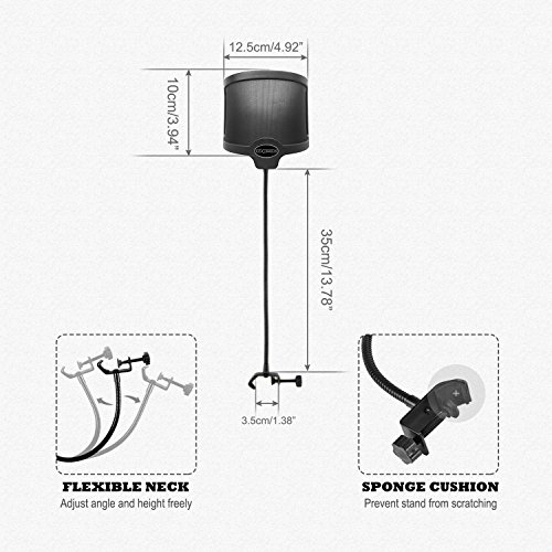 Buy pop filters for blue snowball