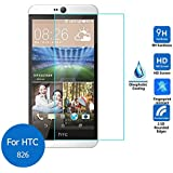 M.G.R 9H Hardness Crystal Clear Scratch-Resistant Tempered Glass Screen Protector with 2.5D Round Edge for HTC Desire 826