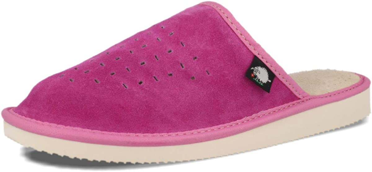 Size 4,5,6,7,8 UK Womens Suede Slippers with Memory Foam Orthopeadic Insole