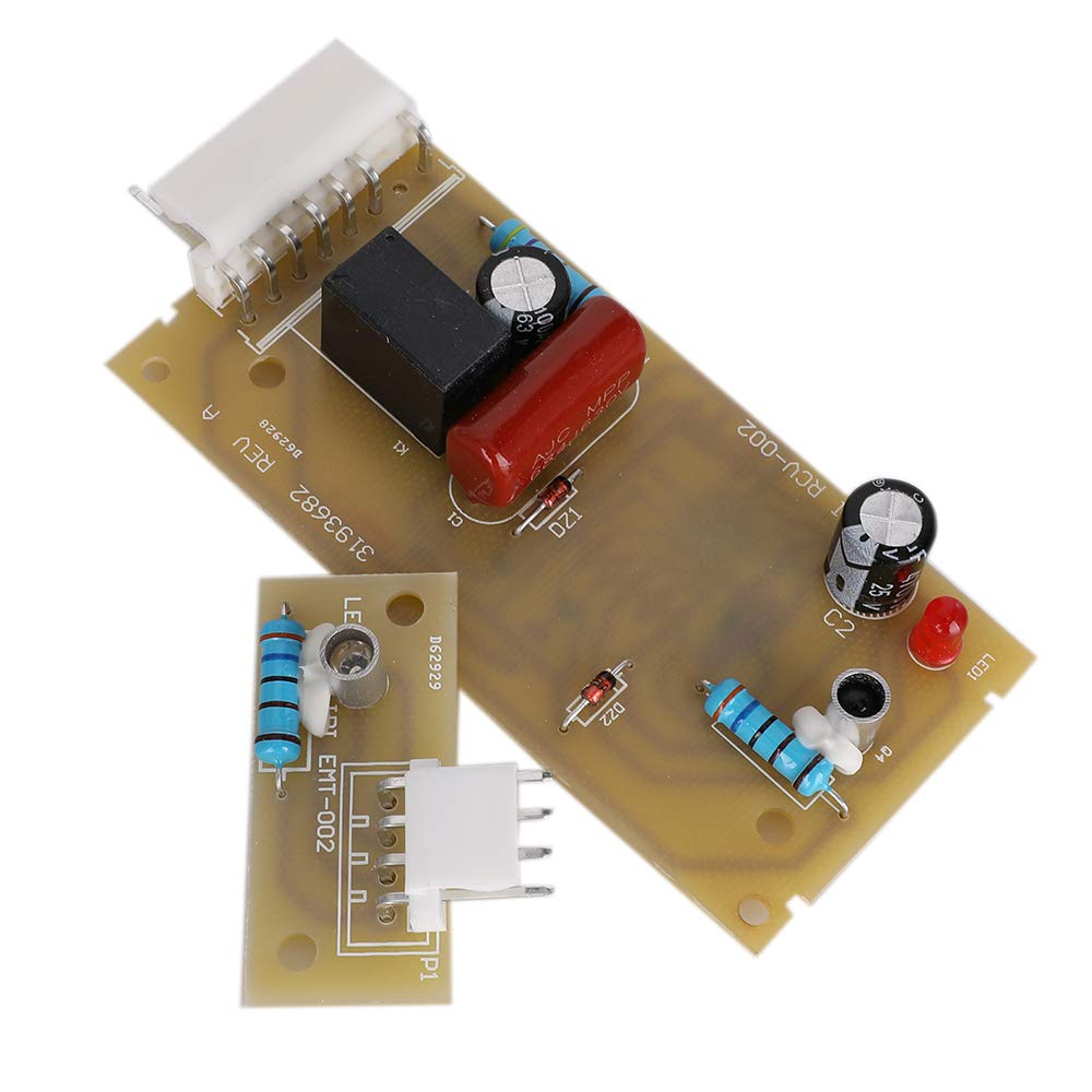 4389102 Refrigerator Control Board Icemaker Emitter Compatible with Whirlpool Refrigerator Ice Level Control Board Kit Replaces PS557945 4389102 AP3137510