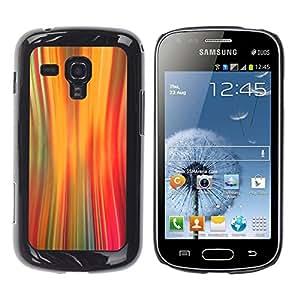 TopCaseStore / la caja del caucho duro de la cubierta de protección de la piel - Lights Warp Speed Motion Orange - Samsung Galaxy S Duos S7562