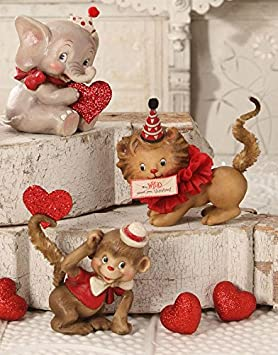 Bethany Lowe Valentine s Day Wild About You Animal Figures, Set of 3