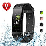 Letsfit Fitness Tracker Color Screen, Heart Rate Monitor Watch, IP68 Waterproof Bluetooth Activity Tracker, Sleep Monitor, Step Counter, 14 Sport Modes, Pedometer Watch for Men Women Kids
