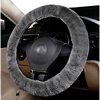 amazon com 100% genuine sheepskin steering wheel cover automotive