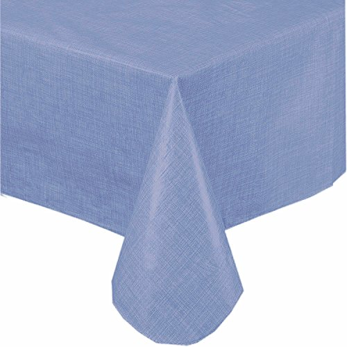Premium Solid Color Vinyl Flannel Backed Tablecloth 52 X