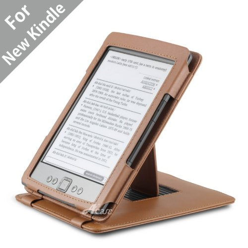 Acase Genuine Leather Flip Case for Classic Kindle (Latest Generation 2011) with Multiple Position Stand (Brown) by Acase