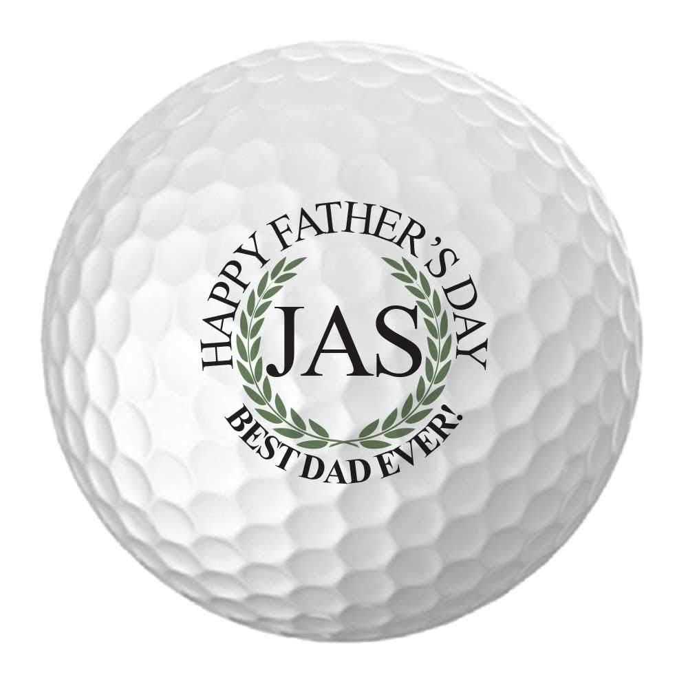 Father's Day Best Dad Ever! Design Golf Balls - Personalize The Initials (12 Balls)