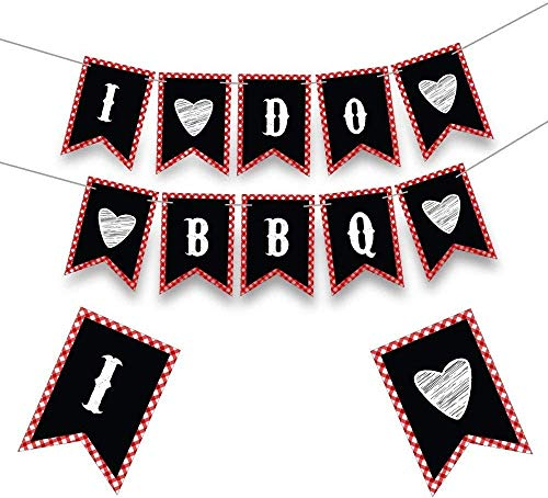 Bridal Shower Decorations - Engagement Party Decorations - I do BBQ Banner - Bachelorette Party Banner - Bridal Shower Banner - Hen party banner - Better Be Quick(BBQ) - Bride to Be Sign -8X5.5 Inches