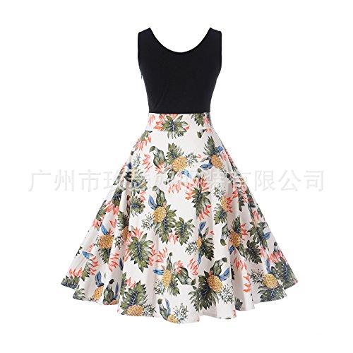 Casual Dunland Length Sleeveless s Knee Loose Shirt Multicolor9 Retro T Women Dresses 7IvxqwrI