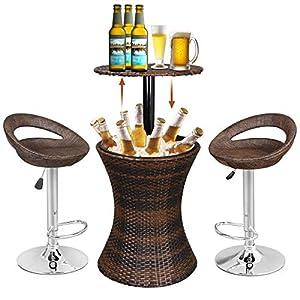 51Sl67wLcdL._SS300_ Wicker Bar Stools & Rattan Bar Stools