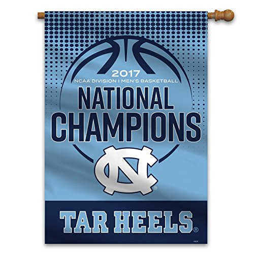 Ncaa National Championship Banner - Fremont Die 2017 UNC Champions House Flag