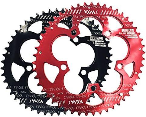自転車のチェーンリング、 ロードバイク、マウンテンバイク、BMX MTB用自転車ダブルオーバルチェーンリング110BCDチェーンホイール (Color : Black, Size : 110BCD 50T/35T)