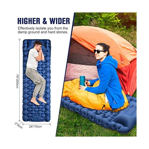 51Sl6rWjJdL OCOOKO Isomatte Camping schlafmatte mit Fußpresse Pumpe - luftmatratze Camping isomatte aufblasbar selbstaufblasbare…