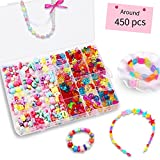 Bead KidsSet for Jewelery Making - Craft Beads Kits for Little Girls DIY Necklaces Bracelet Children Games Colorful Acrylic Handmade Beaded Set Accessories Gift for Kids(color4),HUATK
