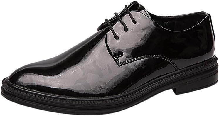 Mens Black White Smart Formal Wedding Oxfords Men Casual Dress Work Party Shoes