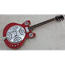 Hollow Body Resonator Acoustic Guitar In Red Color