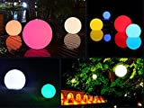 Tker Waterproof Floating 16 RGB 3.5-Inch Globe Light Remote Control LED Color-changing with Great for Night Light Party Pool Patio Ambient & Decorative Lighting