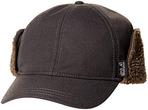Jack Wolfskin Storm Lock Temple Hill Windproof Fleece Lined Baseball Cap, Ebony, Large ()