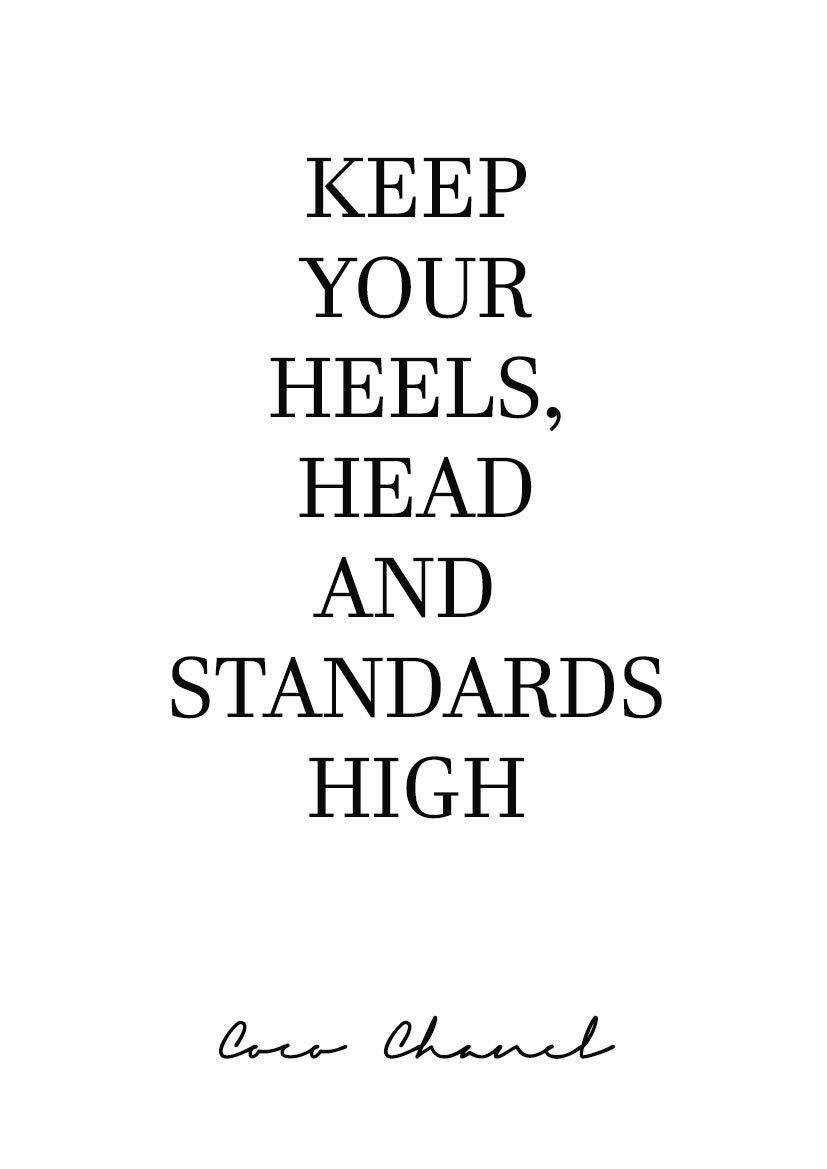Aw Photograph Poster Zitat Coco Chanel Keep Your Heels Dekoration Für Haus Verschiedene Größen Erhältlich 50 X 70 Cm