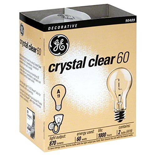 (Ship from USA) 24- NEW GE 97490-24 60-Watt Crystal Clear Incandescent A19 Light Bulbs /ITEM NO#E8FH4F854135615 Crystal Twenty Light