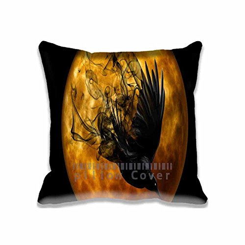 Halloween Raven Pattern Design Throw Pillow Case Cushion Cover Home Sofa Decorative 20x20 Inch(2 Sides) (Dollar General Halloween 2017)