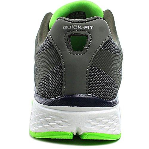 Skechers Chaussures De Sport Baskets Performance Go Walk Sport Power Pour Homme, Gris Et Vert, En Tissu Mesh, Rembourrage En Memory Foam Tg 43