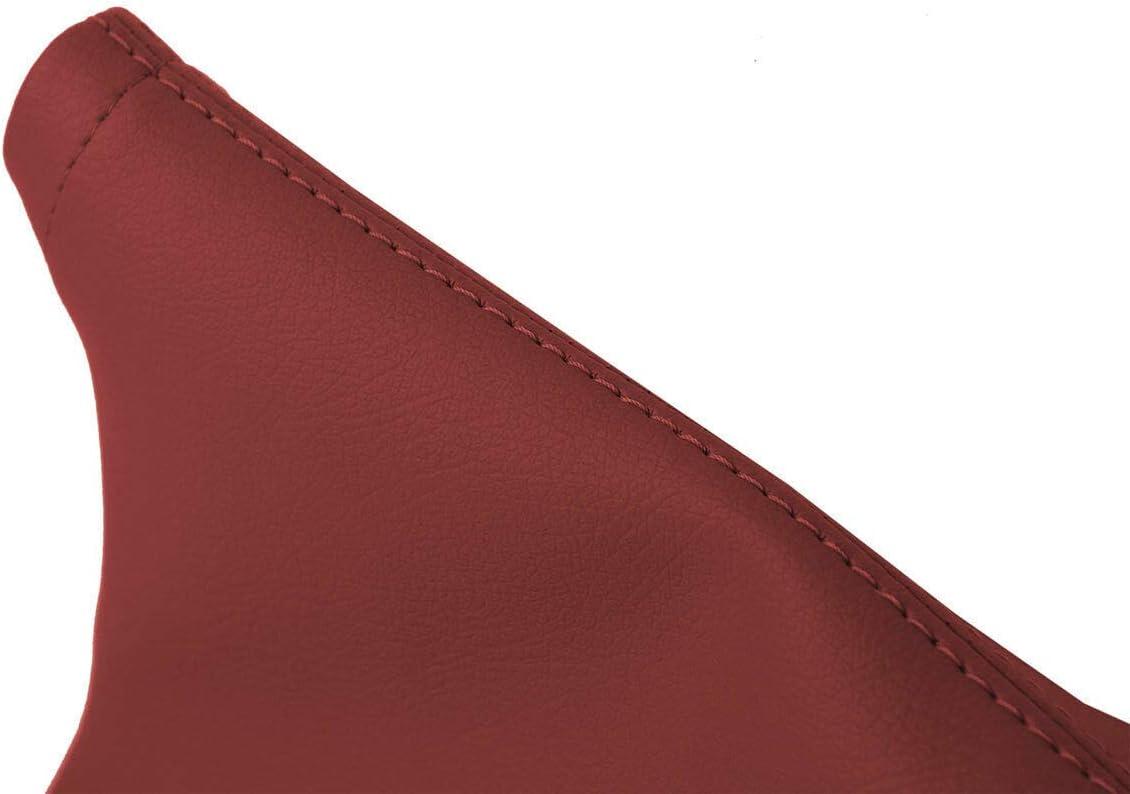 Autoguru E Brake Boot Cover Leather Made for Subaru BRZ Scion GRS Toyota 13-20 Red
