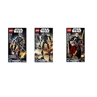 LEGO Star Wars Buildable Figures Construction Sergeant Jyn Ers - 75119 & K-2SO - 75120 & Chirrut Îmwe - 75524 (3 Set Bundle): Home & Kitchen