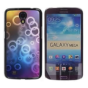 // PHONE CASE GIFT // Duro Estuche protector PC Cáscara Plástico Carcasa Funda Hard Protective Case for Samsung Galaxy Mega 6.3 / Patrón de timbre /