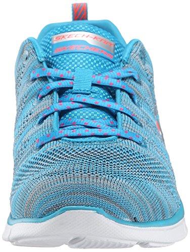 Skechers Equalizer First Rate - Zapatillas de Deportes de Interior de material sintético mujer azul - Bleu (Blu)