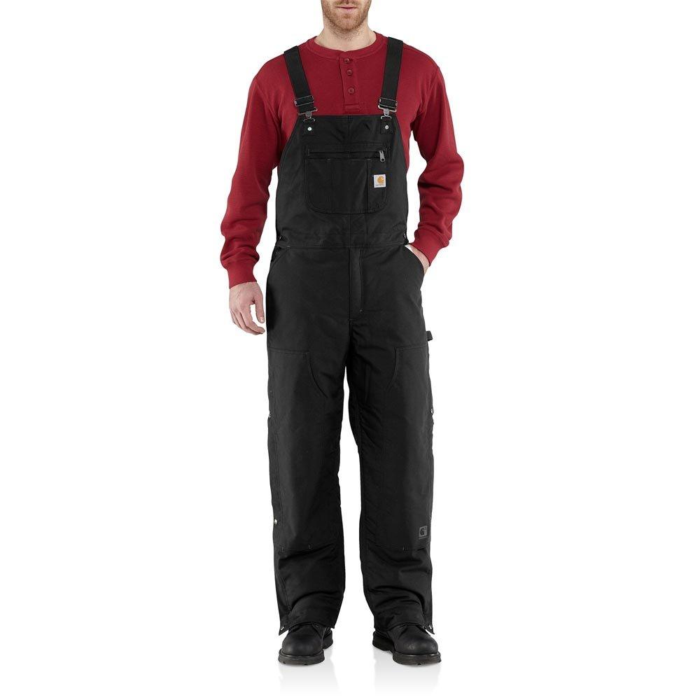 Carhartt Men's 101495 Jefferson Quick Duck Bib Overalls - Quilt Lined - 3X-Large Short - Black