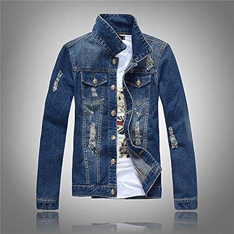 Sau camicia denim uomini giacca Jeans uomo denim lavato