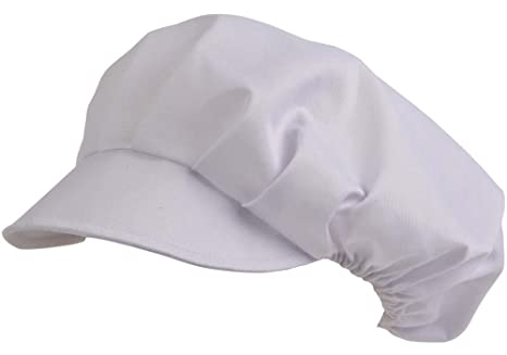 5 pezzi cappello cuoco cappellino cucina da chef elasticizzato con visiera  colore bianco 6cf0eae65c14