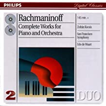 Rachmaninoff-Complete Works for Piano and Orchestra by Sergey Rachmaninov (2002-01-08)
