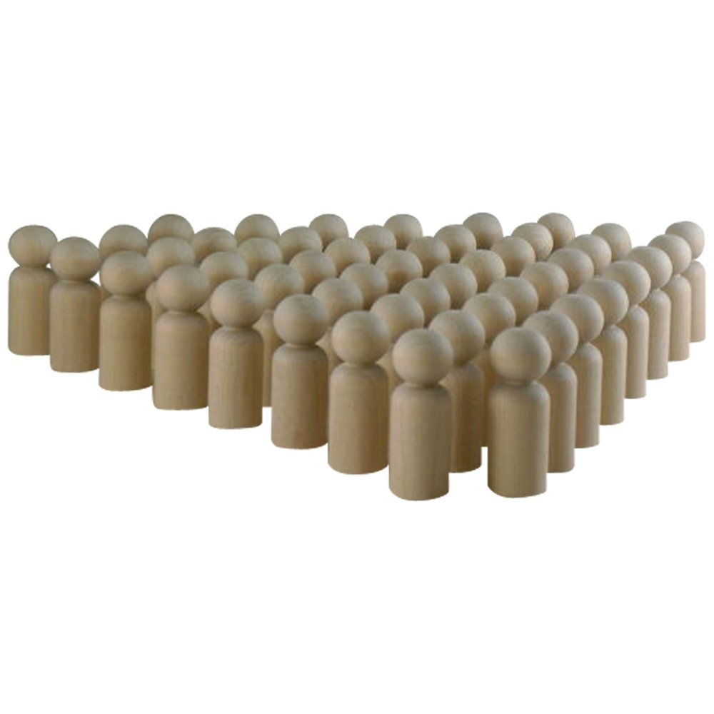 Unfinished Wood Doll Bodies -Boy (1-11/16'') - 50 Pieces Woodpeckers