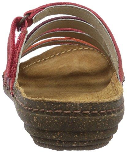 El Naturalista Torcal - sandalias abiertas de cuero mujer rojo - Rot (Grosella Mixed)