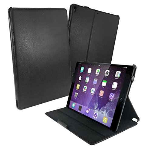 Tuff-luv Multi-View Faux Leather Case Cover and Stand for Apple iPad Pro 10.5 - Black