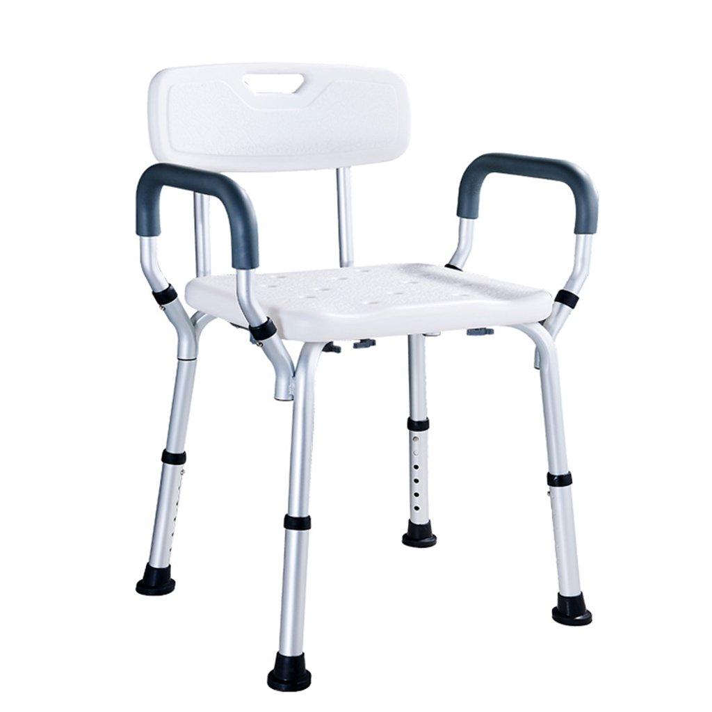 2019新作モデル バスルームのスツール高齢者の入浴用の椅子妊婦のバスルームシャワーの椅子身体の不自由な人のシャワーのスツール水着のアームレストの背もたれのスツールベアリングの重量150kg 白 B07GDLNMC9 白 B07GDLNMC9, フランドルオンライン:9ab7f64b --- growtutor.com