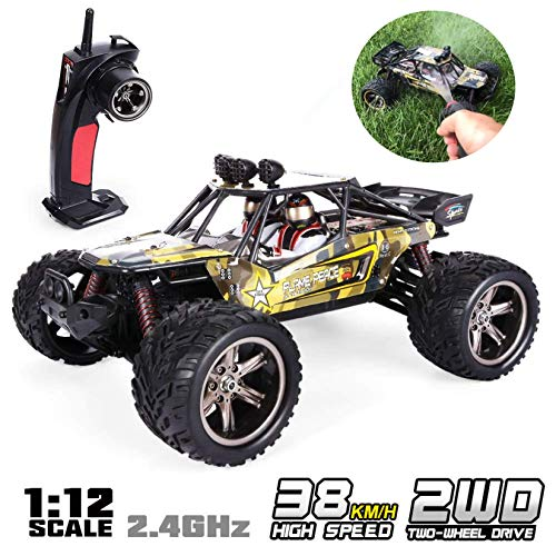 (GPTOYS 1:12 Remote Control Off Road Truck Hobby Grade Army Green Monster Crawler S916)
