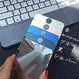 最高級iPhone7 iPhone8 艶あり(鏡面仕上げ)ガラスフィルム iPhone 8 ミラーガラス メッキ加工耐衝撃フロント強化ガラス iphone7液晶フィルム (iphone7/8, ブルー)