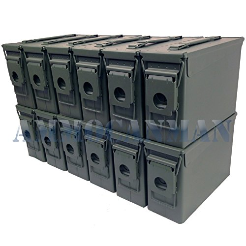 Ammo Can Man, LLC NEW 30 Cal Ammo Can - Blank (12-Pack) by Ammo Can Man