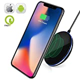 Fast Wireless Charging Pad for Samsung Galaxy Note 8 S6 S7 S8 S8 Plus-Wireless Fast Charger IPhone X 8 8 Plus-Qi Wireless Charging Pad-Station-IPhone X Wireless Charger-10W Wireless Charger IPhone 8