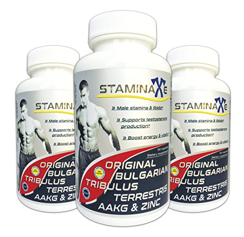 3xStaminaxe- Testosterone Booster. Male Enhancement Pills. Ultra Concentrated Bulgarian Tribulus Terrestris + AAKG and Zinc. Worldwide delivery!