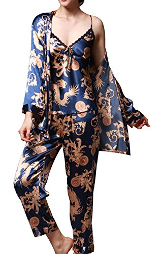 jusfitsu-womens-pajama-sets-elegance-3pcs-silk-pajamas-womens-sleepwear-sets-blue-m