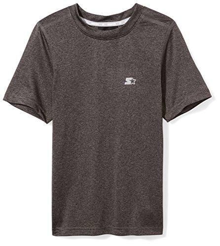 Starter Boys' Short Sleeve TRAINING-TECH Running T-Shirt with Ventilation, Amazon Exclusive, Black, L (12/14)